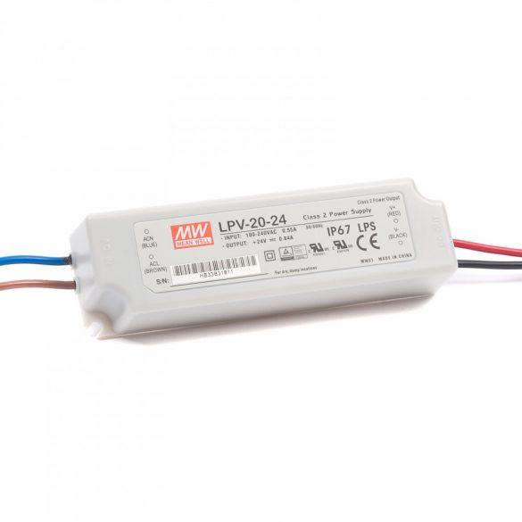 MEANWELL 20W LPV-20-24 LED tápegység IP67 24VDC