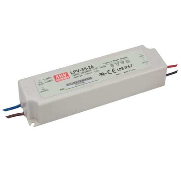 MEAN WELL 35W LPV-35-24 LED tápegység IP67 24VDC