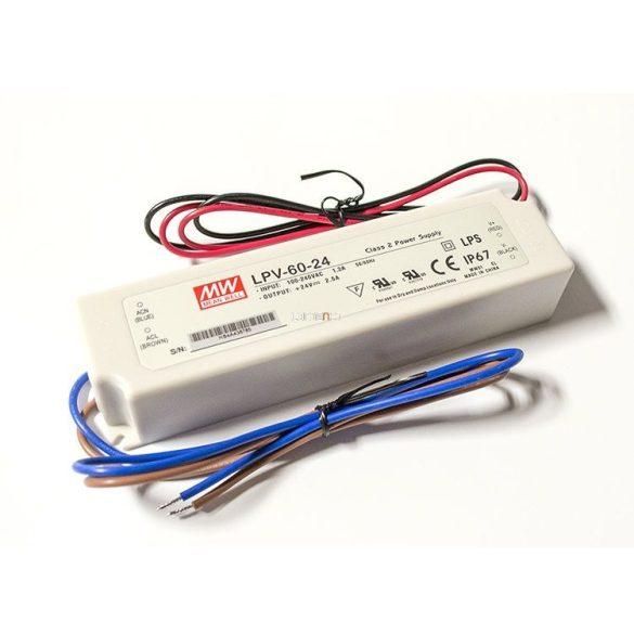 MEAN WELL 60W LPV-60-24 LED tápegység IP67 24VDC