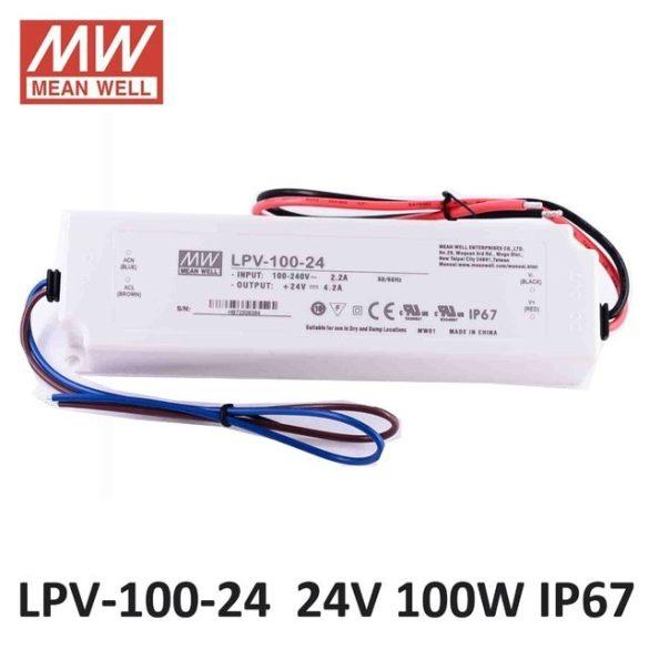 MEAN WELL LPV-100-24 LED tápegység IP67 24VDC