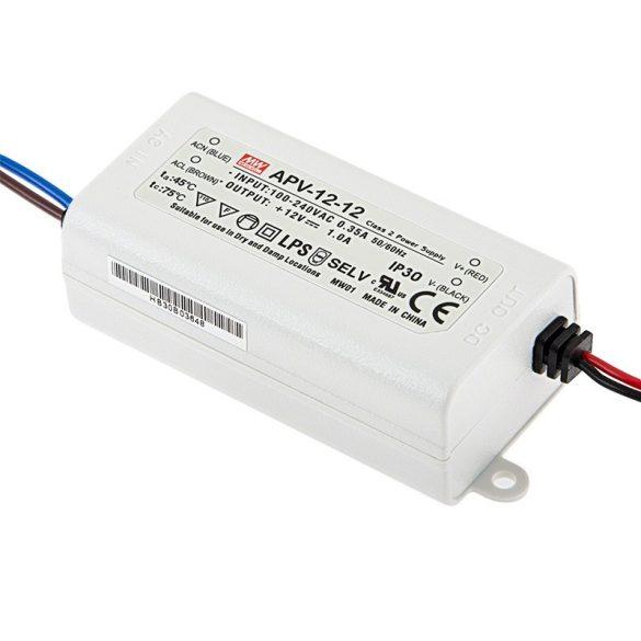 MEAN WELL 12W APV-12-12  LED tápegység 12VDC
