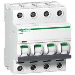 Schneider C13 kismegszakító ACTI9 iC60N, 4P, C, 13A A9F04413 13A 4 pólusú