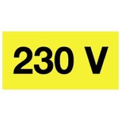 Öntapadó vinil matrica 20x10mm sárga - 230V! 20db/levél