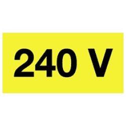 Öntapadó vinil matrica 60x20mm sárga - 240V! 20db/levél