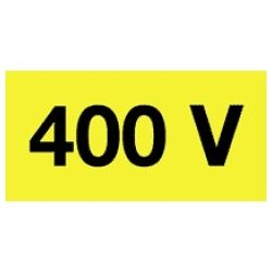 Öntapadó vinil matrica 20x10mm sárga - 400V! 20db/levél
