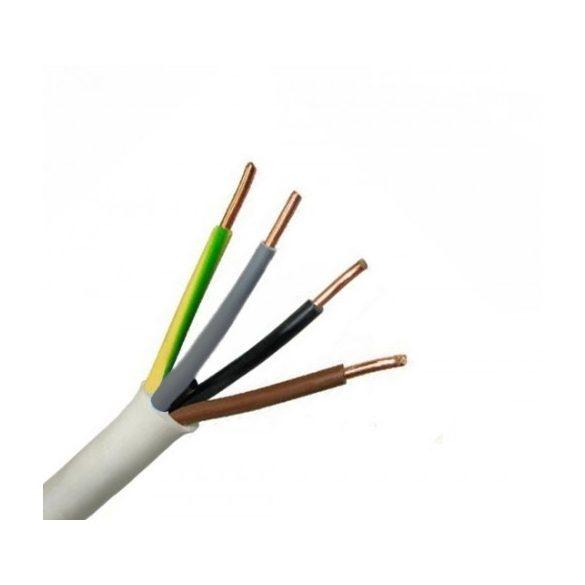 MT kábel 4x1,0mm2 fehér PVC köpenyes réz erű sodrott H05VV-F (MTK)