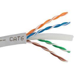 Számítógép vezeték UTP CAT6 (305) réz szürke 4x2x24
