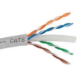 Számítógép vezeték UTP CAT6 (305) réz szürke 4x2x24 adatkábel