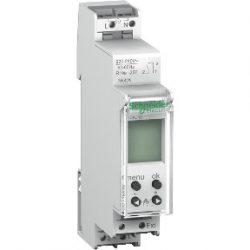 Schneider digitális időkapcsoló, háttérvilágítással ACTI9 IHP+1c 18mm, CCT15838 Sorolható