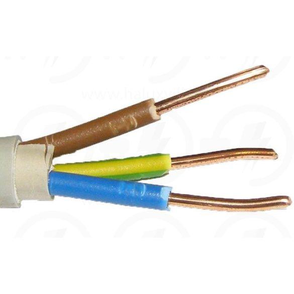 MB-CU kábel 3x1,5mm2 szürke PVC köpenyes tömör réz erű 300/500V NYM-j 3x1,5 (MBCU)