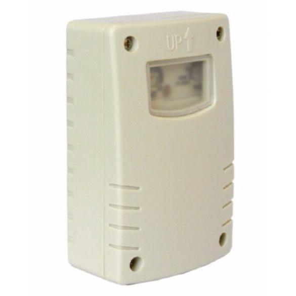 Alkonykapcsoló 1-8 órás időzítési funkcióval, fehér, 230V~ 50Hz max.: 1300W IP44 (DEL1256) deLux
