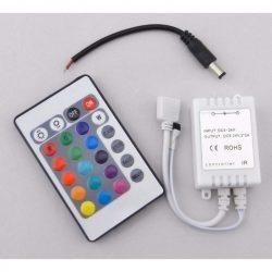 DEL1295 LED szalag RF vezérlő 72W(12VDC), 144W(24VDC), 2A*3CH, 16szín, 433,92Mhz, IP20, deLux