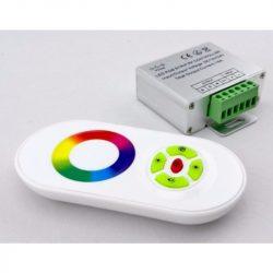 DEL1296 LED szalag RF vezérlő 144W(12VDC), 288W(24VDC), 4A*3CH, színtárcsás, 433,92Mhz, IP20, deLux