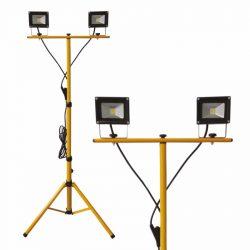DEL1434 Reflektor   2X10W LED, állványos SLIM 1400lm, 220-240VAC, IP65, 4000K, delux