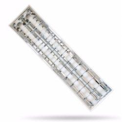 Tükrös rácsos falon kívüli LED csőhöz szerelt 2x36W üres IP20 DP tükör deLux (DEL1496)