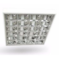 Tükrös rácsos falon kívüli LED csőhöz szerelt 4x18W üres IP20 DP tükör deLux (DEL1502)