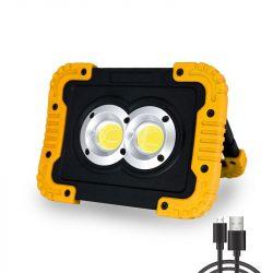 LED reflektor 20W 6500K hordozható 1000lm, IP54, akkumulátoros DEL1554 Delux