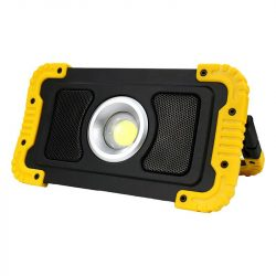 DEL1555 LED reflektor 20W 6500K hordozható 1000lm, IP54, akkumulátoros, bluetooth-os hangszórós