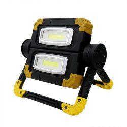 DEL1556 LED reflektor 20W 6500K hordozható 850lm, IP54, akkumulátoros, forgatható fej