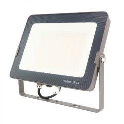 LED reflektor  100W 3000/4000/6000K állítható színhőmérséklet, 8000lm IP65 120 fok  SMD, lapos, szürke DEL1559