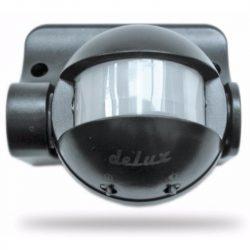 DEL946 Mozgásérzékelő 180fok fekete, IP44 deLux