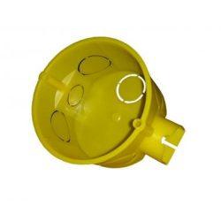 Dunszt műanyag doboz D-6071/1 sorolható 71mm d65mm sárga
