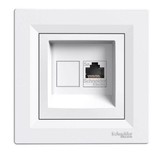 Schneider ASFORA fehér 1xRJ45 Cat5e UTP aljzat, kerettel EPH4300121