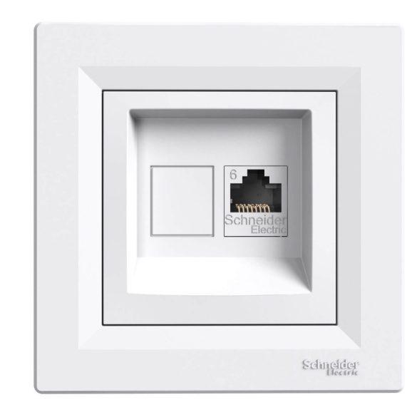 Asfora adatcsatlakozó dugalj UTP RJ45 8(8) Cat6 süllyesztett fehér csavarrögzítés