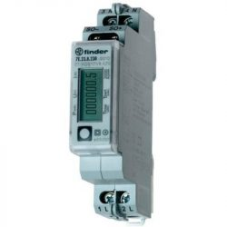 Fogyasztásmérő direkt 1F 32A digitális, NEM hitelesített, DIN sínre, 7E.23.8.230.0010 Finder almérő