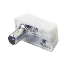 FS 1 Koax kábel dugó, pipa fehér ház