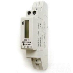 Fogyasztásmérő direkt 1F 50A digitális, NEM hitelesített,DIN sínre, 5256H