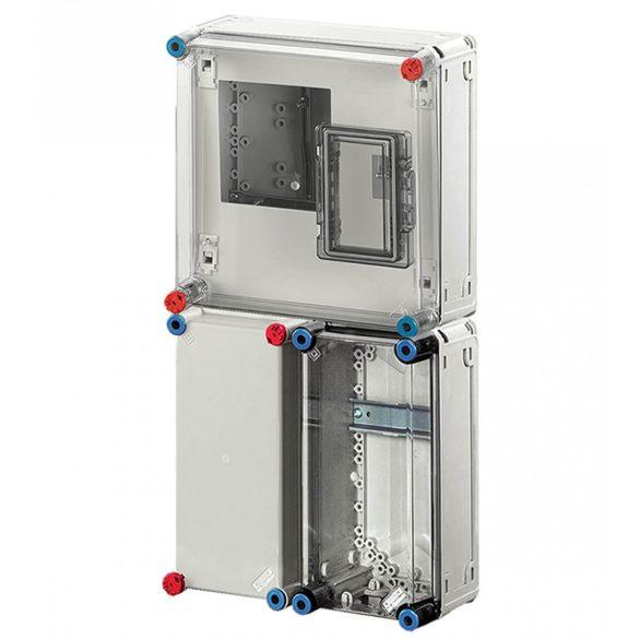 Hensel BASIC HB1000FFD fogyasztásmérő szekrény, 1 fázisú mérő számára, földkábeles csatlakozásra 300x600x185mm