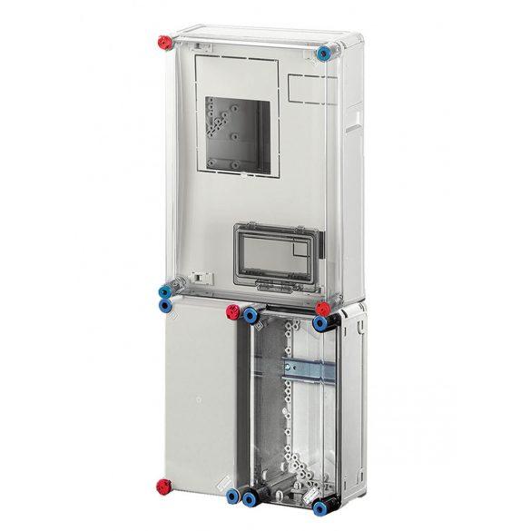Hensel BASIC HB3000FFD fogyasztásmérő szekrény, 1 vagy 3 fázisú mérő számára, földkábeles csatlakozásra 300x750x185mm