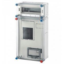 Hensel BASIC HB3012 fogyasztásmérő szekrény, 1 vagy 3 fázisú mérő számára, 12 modulos kismegsz. szekr. 300x600x185mm