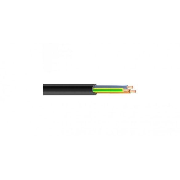 Gumiköpenyes kábel GT vezeték 3x1mm2 fekete sodrott réz erű H05RR-F (GT)