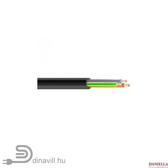 Gumiköpenyes kábel GT vezeték 3x2,5mm2 fekete sodrott réz erű H05RR-F (GT)