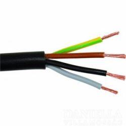 Gumiköpenyes kábel GT vezeték 4x1,5 mm2 fekete sodrott réz erű H05RR-F (GT)