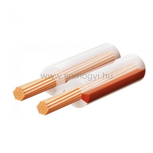 Hangszóróvezeték, transzparent, 2x0,5 mm, 100 m/tekercs