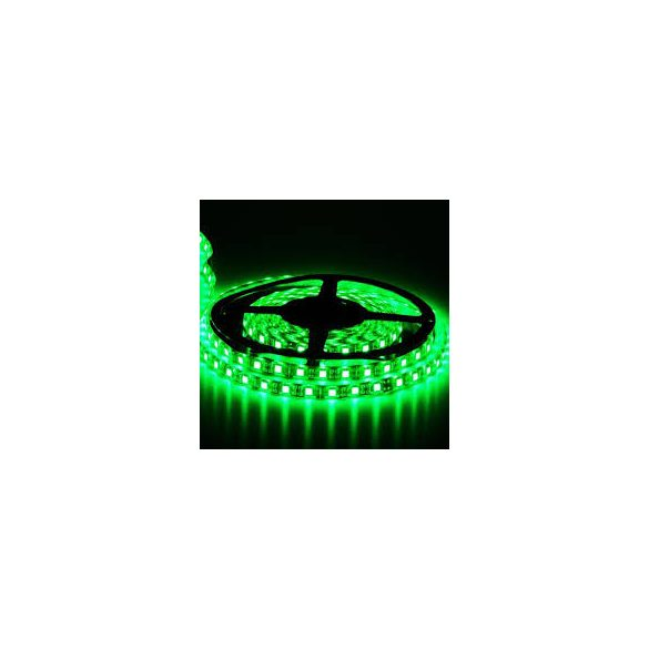 Ledszalag 3528WN 120led/m IP20 szines zöld