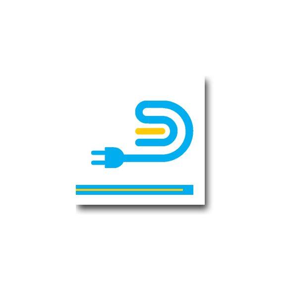LE 100 Kábelcsatorna lépésálló  fehér műanyag
