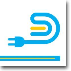 LHD 40X40 Kábelcsatorna fehér műanyag