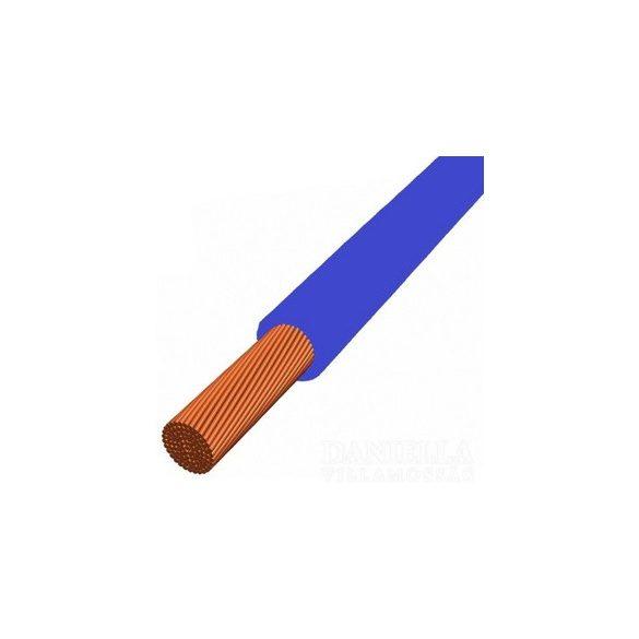 MKH vezeték 1x10mm2 kék PVC szigetelésű sodrott réz erű H07V-K (MKH)