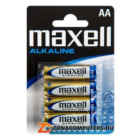 Maxell LR6 AA elem, alkáli, 1,5V ceruza elem 4db