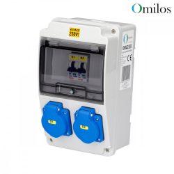 OMILOS OMLD101 Szerelt ipari elosztótábla vezetékezve IP44
