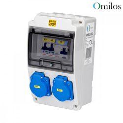 OMILOS OMLD102 Szerelt ipari elosztótábla vezetékezve IP44