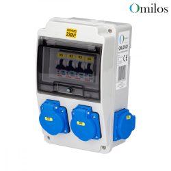 OMILOS OMLD103 Szerelt ipari elosztótábla vezetékezve IP44