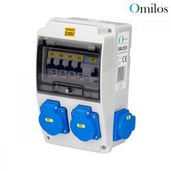 OMILOS OMLD104 Szerelt ipari elosztótábla vezetékezve IP44