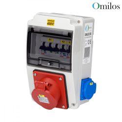 OMILOS OMLD105 Szerelt ipari elosztótábla vezetékezve IP44