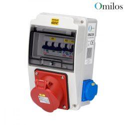 OMILOS OMLD106 Szerelt ipari elosztótábla vezetékezve IP44