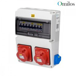 OMILOS OMLD107 Szerelt ipari elosztótábla vezetékezve IP44